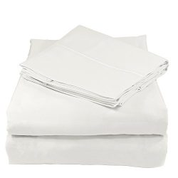 Whisper Organics Bed Sheets, Organic 100% Cotton Sheet Set, 500 Thread Count, 3 Piece: Fitted Sh ...