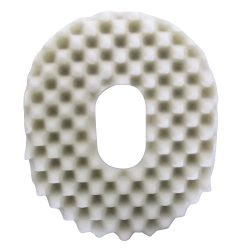 PCP Ring Donut Seat Cushion, Convoluted Foam, Removable Cover, White