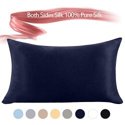 Jaciu 100% Mulberry Silk Pillowcase Pure,21 Momme Both Side Real Silk Pillowcases Hidden Zippere ...