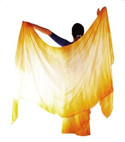 Nahari Silks 100% Silk Hand-Dyed Skylights 108″