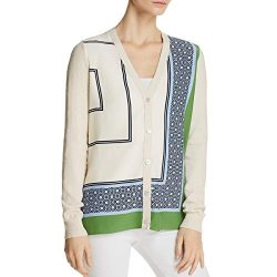 Tory Burch Womens Knit Silk Cardigan Sweater