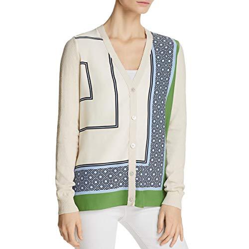 Tory Burch Womens Knit Silk Cardigan Sweater