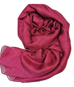 Shanlin Solid Color Silk Feel Long Scarves (Wine)