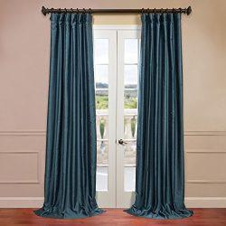 Half Price Drapes PDCH-HANB83-120 Yarn Dyed Faux Dupioni Silk Curtain, Fiji
