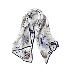 Silk Scarfs For Women, Jeelow 100% Pure Silk Scarves Oblong Mulberry Or Twill Silk Scarf For Hai ...