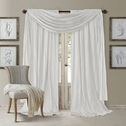 Elrene Home Fashions Elegance Window Curtain Drape Set ((2) Panels and (1) Scarf, Set of 3, 52&# ...