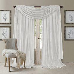Elrene Home Fashions Elegance Window Curtain Drape Set ((2) Panels and (1) Scarf, Set of 3, 52&# ...