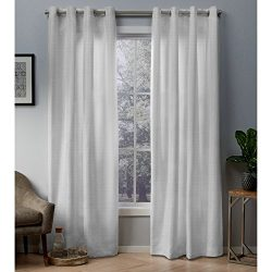 Exclusive Home Curtains Whitby Metallic Slub Yarn Textured Silk Look Window Curtain Panel Pair w ...