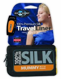 Sea to Summit Stretch Silk Liner (Traveler w/Pillow Case 88″ x 36″) – Pacific Blue