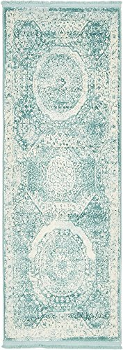 Unique Loom New Classical Collection Traditional Distressed Vintage Classic Blue Runner Rug (2&# ...