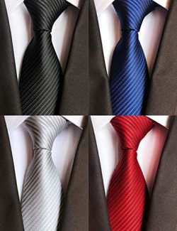 WeiShang Lot 6 PCS Classic Men's Tie Silk Necktie Woven JACQUARD Neck Ties (Style 18)