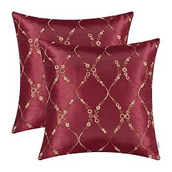 CaliTime Pack of 2 Cushion Covers Throw Pillow Cases Shells for Sofa Couch Home Decoration Moder ...