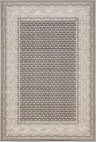 Unique Loom Williamsburg Collection Traditional Border Gray Area Rug (4′ x 6′)