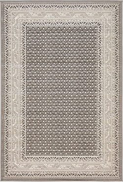 Unique Loom Williamsburg Collection Traditional Border Gray Area Rug (4′ x 6′)