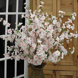 "Larksilk 36"" Tall Pink Artificial Cherry Blossom Branches – Pink Silk Flowers for Fl ..."