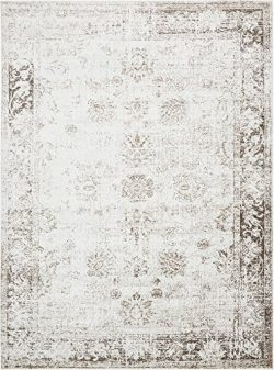 Unique Loom 3134035 Sofia Collection Traditional Vintage Beige Area Rug, 9′ x 12′ Re ...
