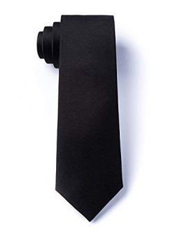 Black Silk Boys Tie | Black Boys Necktie