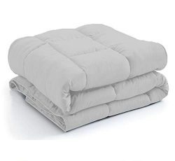 New York Mercado 100% Organic Cotton Comforter Luxury and Premium Quality Quilted with Corner Ta ...