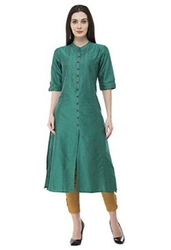 Lagi Women Designer Straight A-Line Kurta Kurtis top Tunic Dresses Polly Silk Rayon Cotton Kurti ...