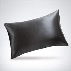 Bedsure Silk Pillowcase – Queen Size (20″x30″) Pillowcase – 100% Mulberr ...