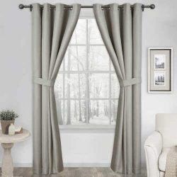 Silk Home Blackout Curtains 2 Panels Harmony Beige