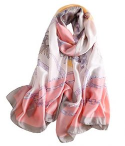 FM Womens Mulberry Silk Scarves Long Satin Lightweight Scarf For Women (aa2)