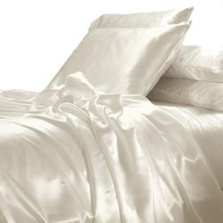 Spring Delight Classic Collection of 1-Piece Silky Satin Duvet/Comforter Cover, Polyester-Hypoal ...