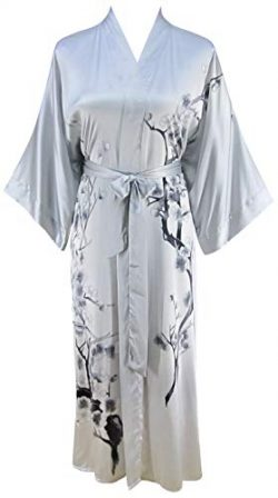 Ledamon Women's 100% Silk Kimono Long Robe – Classic Colors and Prints Enclosed in a ...