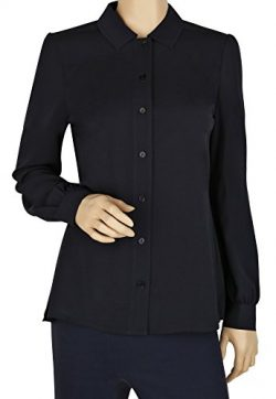 Tory Burch Navy Long Sleeve Blouse