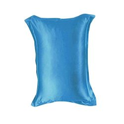 Zerama Solid Color Emulation Silk Pillowcase Bedding Pure Single Pillow Cover Inner Protector