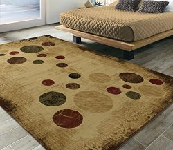 Silk Road Concepts SR-EL5068-5X7 Collection Abstract Rugs, 5'3″ x 7'3″,  ...