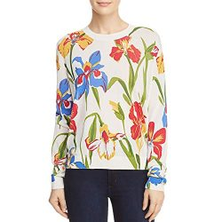 Tory Burch Womens Kaelyn Silk Floral Print Blouse
