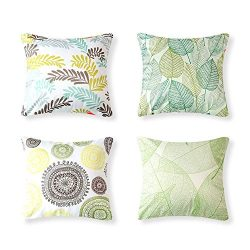 CRJHNS Throw Pillow Covers Soft Silk Cushion Cover Square Pillowcase Home Decoration for Couch,B ...