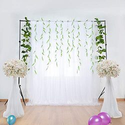 White Tulle Backdrop Curtains for Baby Shower Wedding Photography Background for Birthday Party  ...