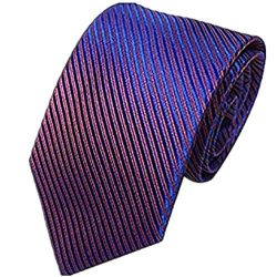 Unisex Novelty Men's Striped Plaid Dress Hand Tie Classic Jacquard Woven Necktie Tie Party ...