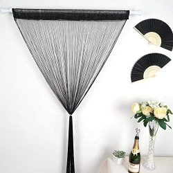 Mikash Silk Tassels Fringe Curtain Panel Photo Booth Window Door Home Wedding Party | Model WDDN ...