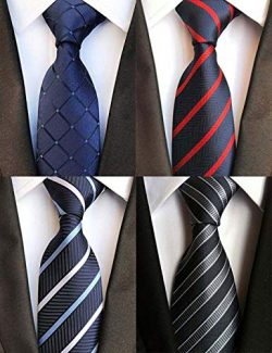 WeiShang Lot 6 PCS Classic Men's Tie Silk Necktie Woven JACQUARD Neck Ties (Style 20)