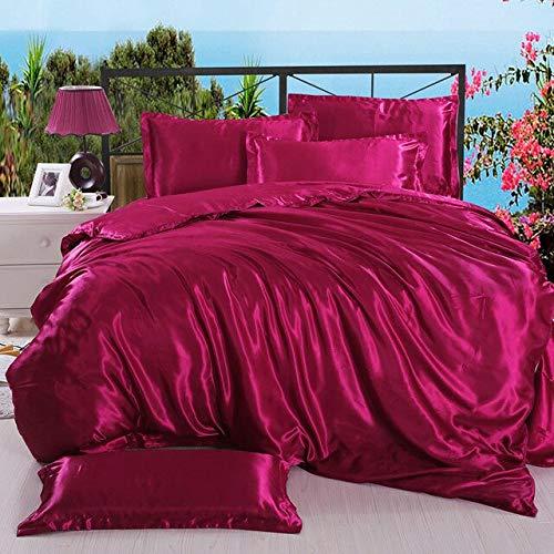 LUXURIOUS LIFE Hotel Quality Luxury Ultra Soft 100% Silk Like Satin 500 GSM 3 Pc. Comforter Set  ...