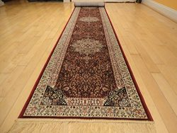 Luxury Red Silk Rug Traditional Area Rugs 2×12 Hallway Runner Rugs Long Narrow Rug 2 12 Lon ...
