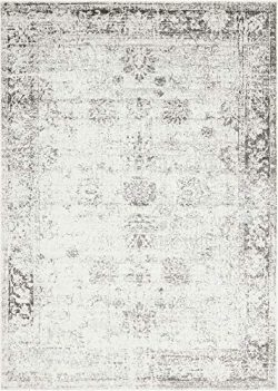 Unique Loom Sofia Collection Traditional Vintage Gray Area Rug (7′ x 10′)
