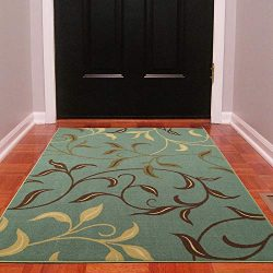 Silk Road Concepts SR-OTH2065-3X5 Collection Contemporary Rugs, 3'3″ x 5′, Sea ...