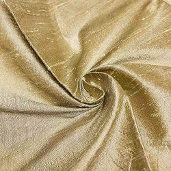 100% Pure Silk Dupioni Fabric 54″ Wide BTY Drape Blouse Dress Craft (Champagne)