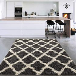 Silk Road Concepts SR-COZY2274-5X7 Collection Charcoal Rugs, 5'3″ x 7′, Dark G ...