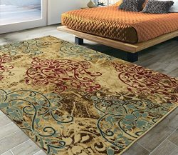 Silk Road Concepts SR-EL5032-5X7 Collection Abstract Rugs, 5'3″ x 7'3″,  ...