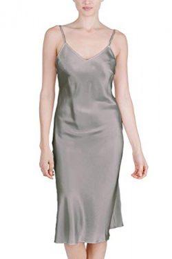 OSCAR ROSSA Women's Luxury Silk Sleepwear 100% Silk Full Slip Chemise Lingerie Nightgown S ...