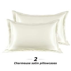 Surmente Satin Pillowcase for Hair and Skin Home Ideas Slip Pillow Cases with Envelope Closure S ...