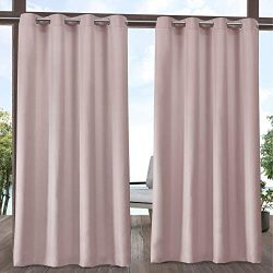 Exclusive Home Curtains Indoor/Outdoor Solid Curtain Panel, 54×120, Blush
