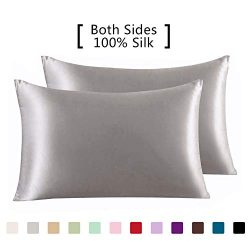 YANIBEST Pillow Cases 2 Pack 100% Mulberry Silk Pillowcase for Hair and Skin with Hidden Zipper& ...
