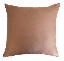 Silk Throw Pillow Cover Light Onion Pink 15×15 inch Pack of 2 100% Pure Silk Dupioni Cushio ...