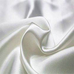 100% Pure Charmeuse Silk Fabric 19mm 45″ Width Plain Dyed Silk for Bedding Dress Wedding D ...